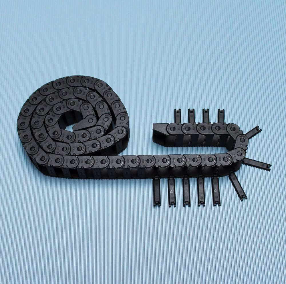 7x7mm//10x10mm 1Meter Nylon Schwarz Energiekette Schleppkette Hochwertige Neu