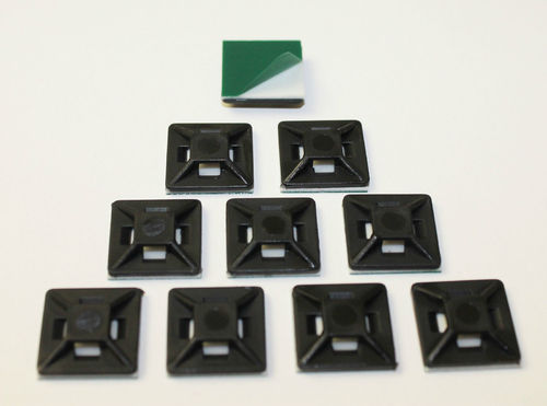 10 pieces adhesive base BLACK UV-resistant self-adhesive